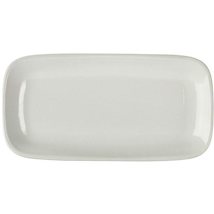 Porcelain Rounded Rectangular Plate 29.5 x 15cm/11.5 x 6""