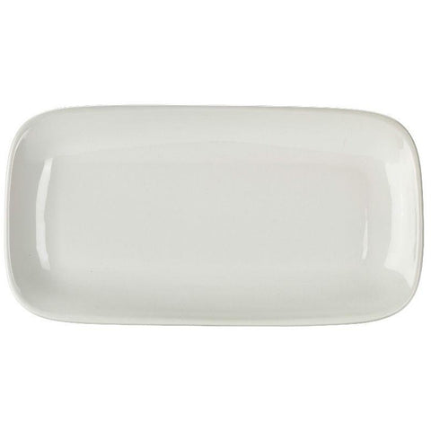 Porcelain Rounded Rectangular Plate 35.5 x 19cm/14 x 7.5""
