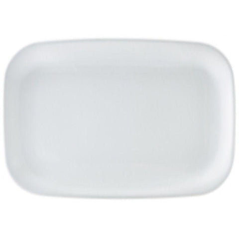 Porcelain Rounded Rectangular Plate 35.5 x 24cm/14 x 9.5""