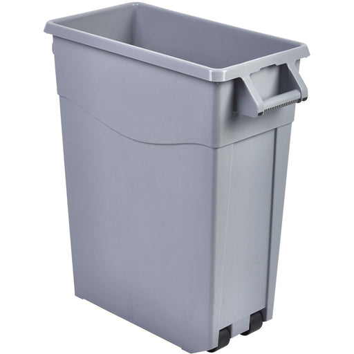Grey Slim Recycling Bin 65L