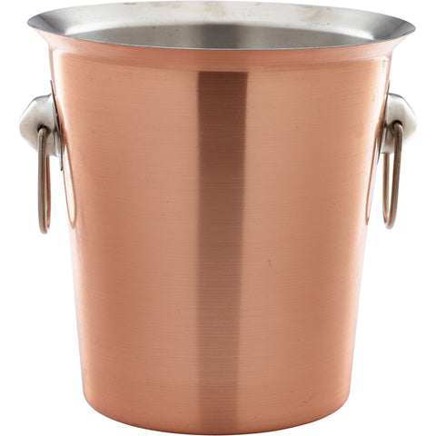 Copper Plated Wine Bucket With Ring Handles