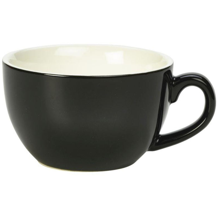 Porcelain Black Bowl Shaped Cup 17.5cl/6oz