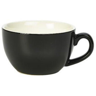 Porcelain Black Bowl Shaped Cup 25cl/8.75oz