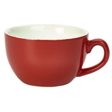 Porcelain Red Bowl Shaped Cup 25cl/8.75oz