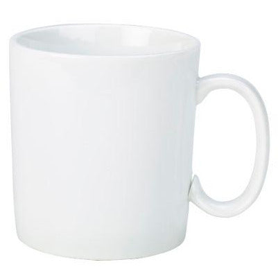 Porcelain Straight Sided Mug 34cl/12oz