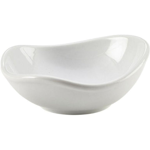 Porcelain Organic Triangular Bowl 12.7cm/5""
