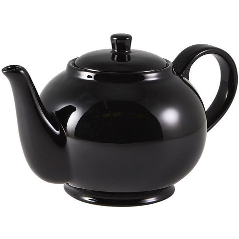 Porcelain Black Teapot 85cl/30oz