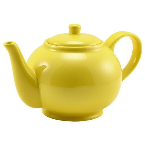 Porcelain Yellow Teapot 85cl/30oz
