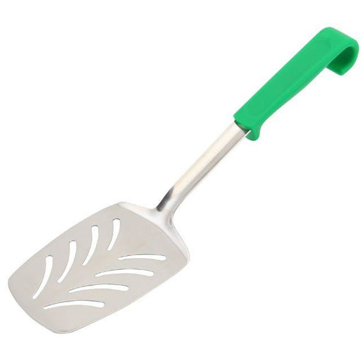 Plastic Handle Slotted Turner Green