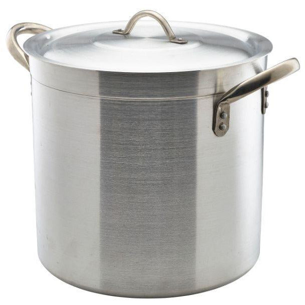 Aluminium Deep Stockpot With Lid 17Litre