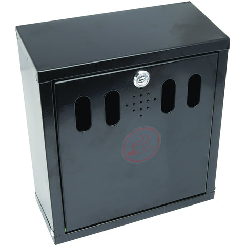 Black Wall-Mounted Outdoor Ashtray