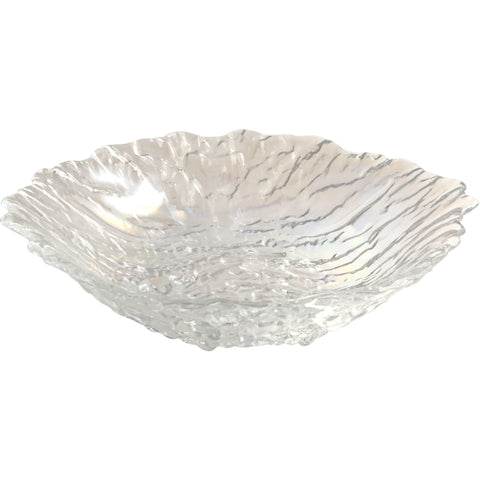 Glacier Glass Salad Bowl 25cm Dia