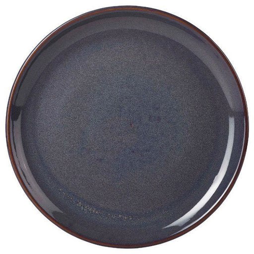 Terra Stoneware Rustic Blue Coupe Plate 27.5cm