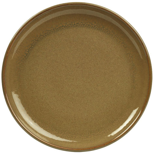 Terra Stoneware Rustic Brown Coupe Plate 19cm