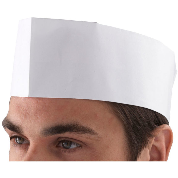 Chef's Disposable Paper Forage Hat (100 Pcs)