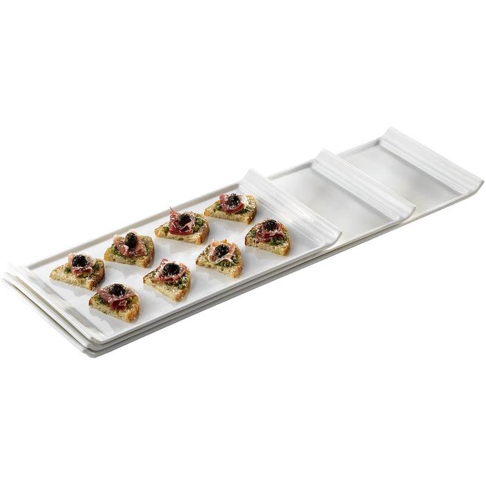 Fine China Narrow Rectangular Serving Platter 44 x 17cm/18 x 6.75""
