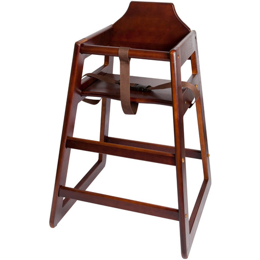 Wooden High Chair - Dark Wood