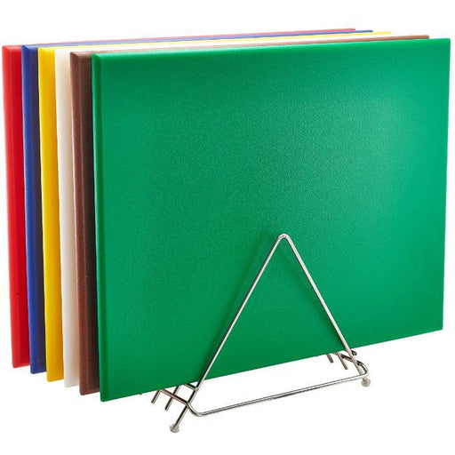 High Density Chopping Board And Rack Set 24 x 18 x 0.75""