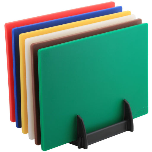 High Density Chopping Board And Rack Set 18 x 12 x 0.5""