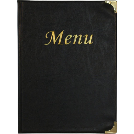 A4 Menu Holder Black 8 Pages
