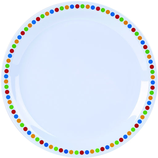 "Melamine 9"" Plate - Coloured Circles"