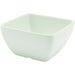 White Melamine Curved Square Bowl 10.5cm