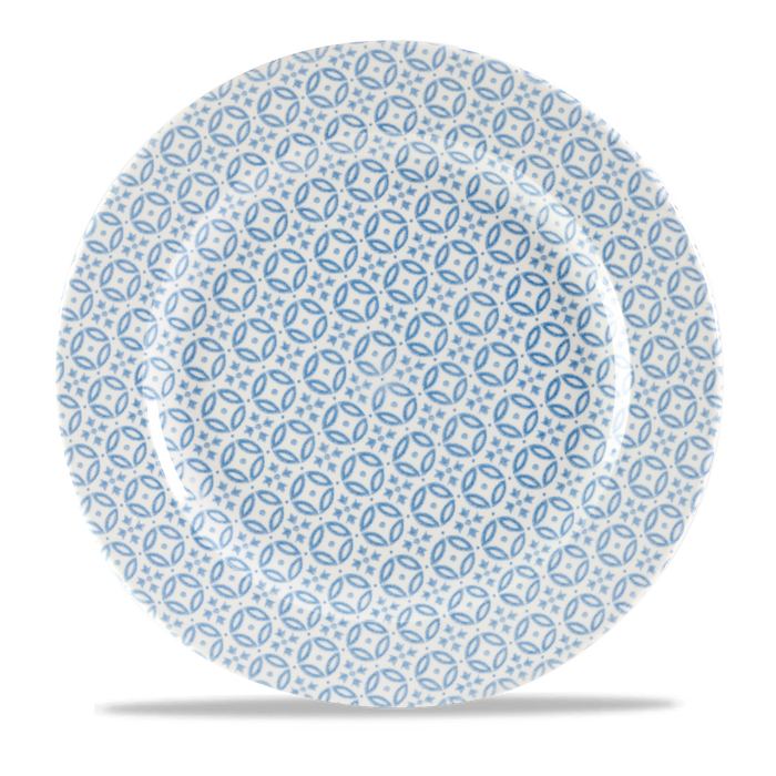 "Moresque Blue Profile Plate 12"" Box 12"