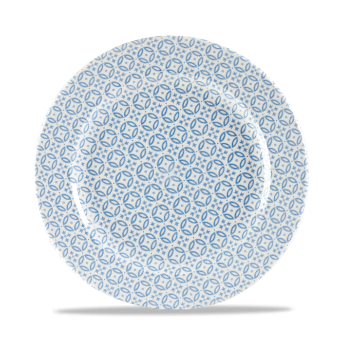 "Moresque Blue Profile Plate 10.875"" Box 12"