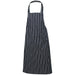 Navy Butchers Stripe Bib Apron 70cm X 100cm