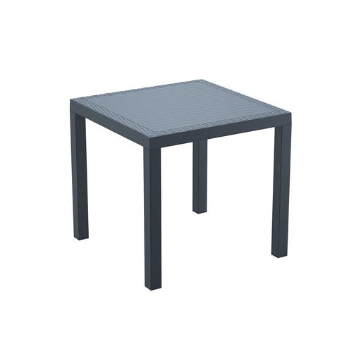 Extremely durable, weather-resistant table Made of durable weather-resistant resin. Non-metallic frame will never unravel, rust or decay. UV protected to ensure colours will not fade. Ideal for outdoor use may also be used indoors if required
