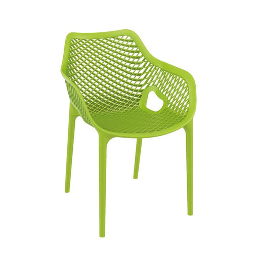 Beautifully designed stacking armchair Polypropylene, glass fibre reinforced stacking armchair. Strong and stable. Ideal for outdoor use may also be used indoors if required