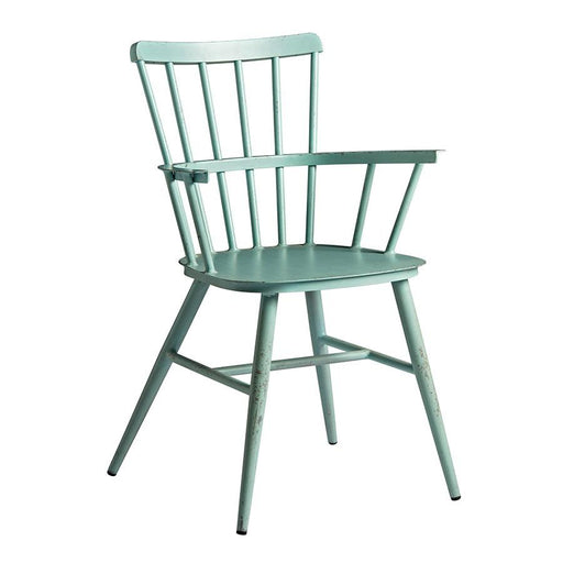 Aluminium arm chair Bring contemporary elegance to your internal or external dining area: on-trend aluminium, retro arm chair with rustic appeal.