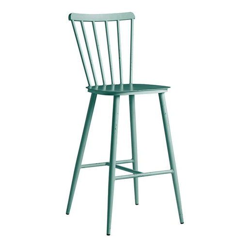 Aluminium bar stool Bring contemporary elegance to your internal or external dining area: on-trend aluminium, retro spindle back design bar stool with rustic appeal.