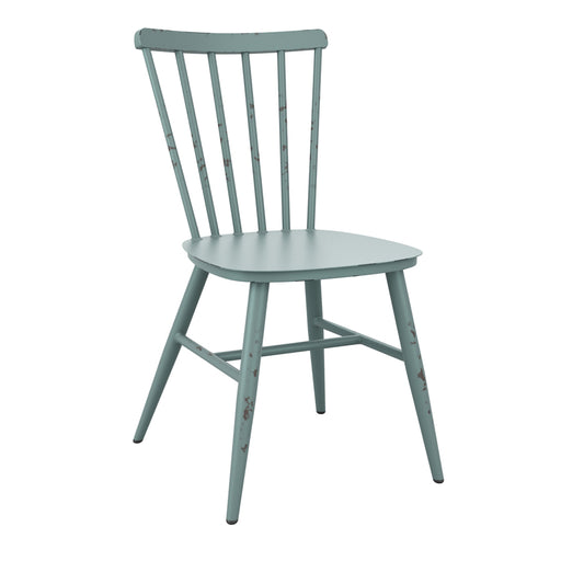 Aluminium side chair Bring contemporary elegance to your internal or external dining area: on-trend aluminium, retro chair with rustic appeal.