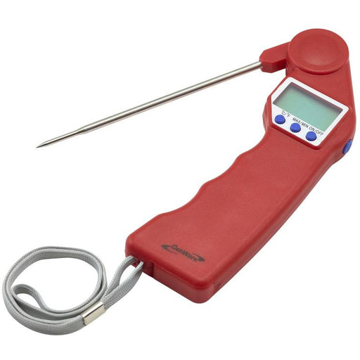 Red Folding Probe Pocket Thermometer