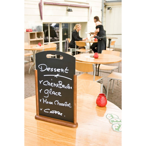 Large Table Chalk Board Dark Wood 21X45cm