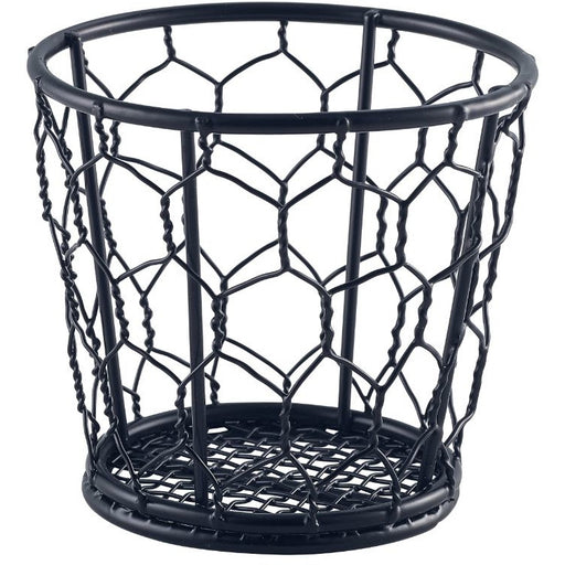 Black Wire Basket 10cm Dia