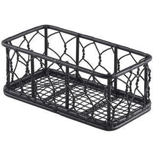 Rectangular Black Wire Basket 14 x 7 x 5.5cm