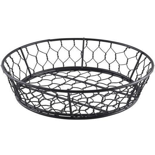 Round Black Wire Basket 24 x 6cm