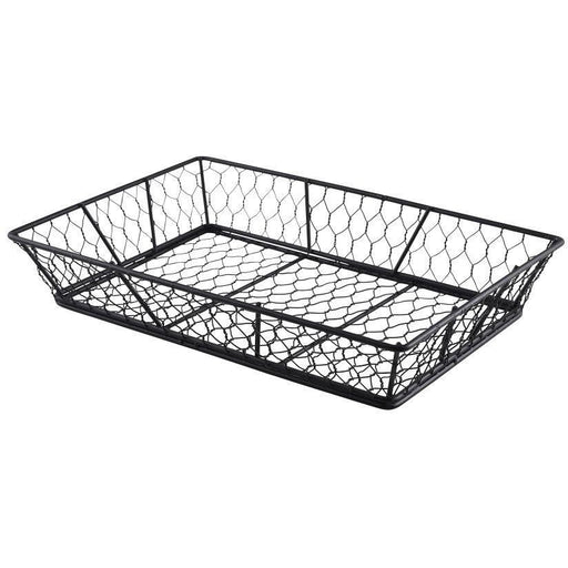 Rectangular Black Wire Basket 31.5 x 21.5 x 6cm