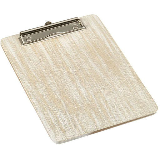 White Wash Wooden Menu Clipboard A5 18.5x24.5x0.6cm