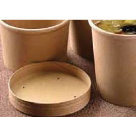 Kraft Heavy Duty Compostable Paper Soup Container Lid Fitting 8oz, 12oz, & 16oz Containers (Pack 500)
