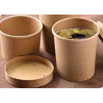 Kraft Heavy Duty Compostable Paper Soup Container 12oz 375ml