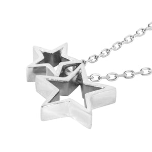 sterling silver star necklace side image
