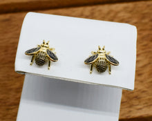 Load image into Gallery viewer, Bumble bee stud earrings