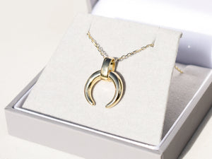 Chunky Crescent Moon Necklace