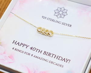 40th Birthday Charm Necklace
