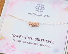 Load image into Gallery viewer, 40th Birthday Charm Necklace