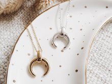Load image into Gallery viewer, Chunky Crescent Moon Necklace