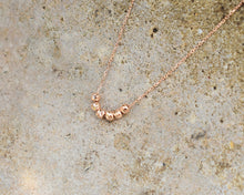 Load image into Gallery viewer, rose gold ball charm necklace gift for her